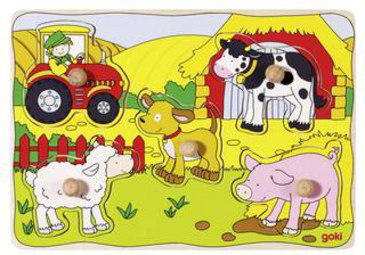 goki Steckpuzzle Auf dem Bauernhof 57589