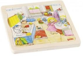 goki Schichtenpuzzle Mein Tag 57566
