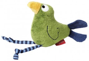 Sigikid 41043 Greifling Vogel grün Quietsch Quatsch