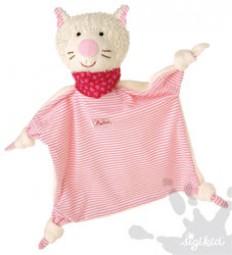 Sigikid Schnuffeltuch Katze rosa 48095