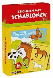 moses Verlag 26850 Zeichnen mit Schablonen - Haus- und Bauernhoftiere