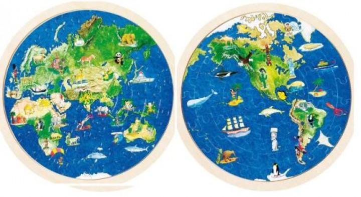 goki Puzzle Weltkugel 57666