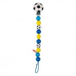 HEIMESS Schnullerkette Fußball blau 763600