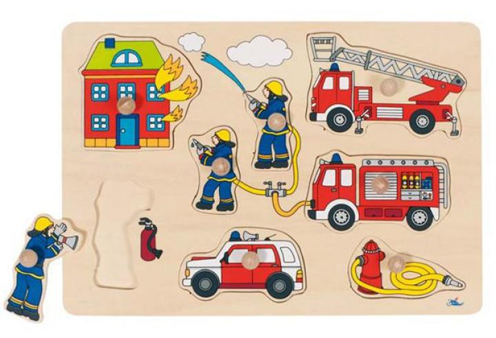 goki Steckpuzzle Feuerwehr 57907