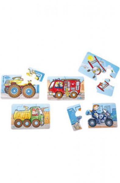 Haba Erste Puzzles Dreheffekt Fahrzeuge 2433