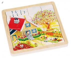 goki Schichtenpuzzle Jahreszeiten 57684