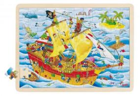 goki Einlegepuzzle Piraten 57831