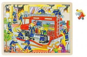 goki Einlegepuzzle Feuerwehreinsatz 57527