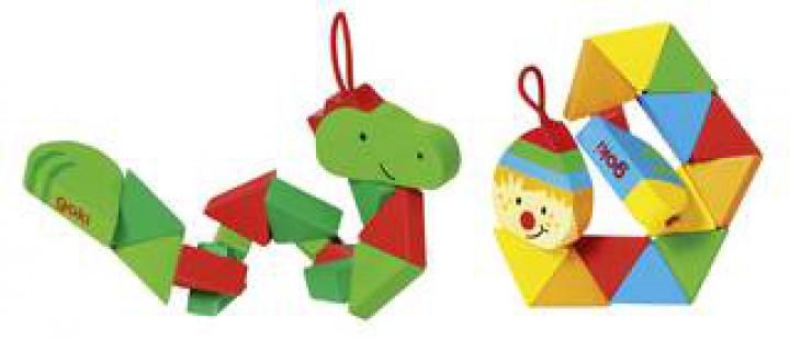 goki Pocket Puzzle Krokodil und Clown 57563 Set