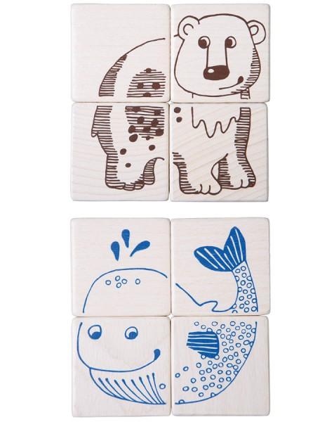 Haba Würfelpuzzle Safaritiere 301215