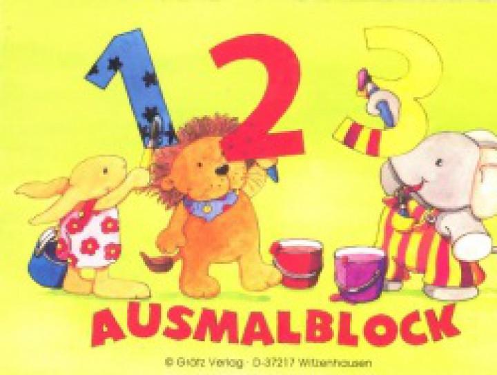 Mini-Ausmalblock 1-2-3