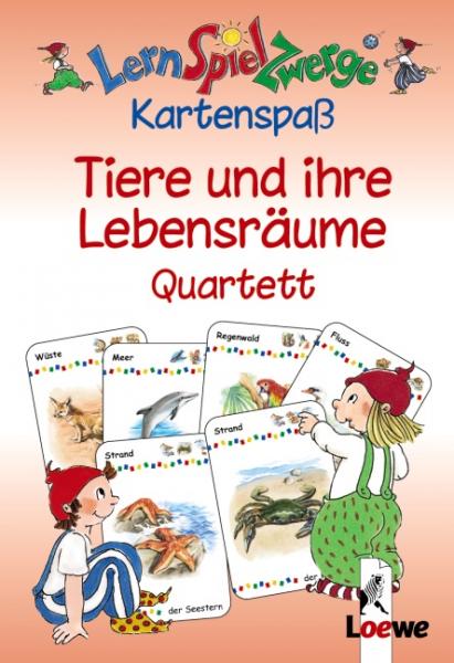 Kartenspiel Tiere und ihre Lebensräume Quartett